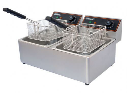 Blizzard Catering Twin Tank Electric Fryer BF6+6